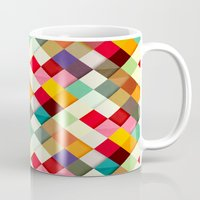 colorful Mugs featuring Pass this On by Danny Ivan