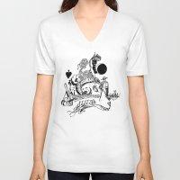 ram V-neck T-shirts featuring Ram by Cowbird