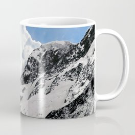 Snowy Mountains with Dramatic Clouds Coffee Mug