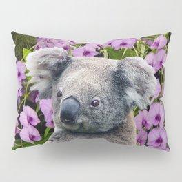 Koala and Orchids Pillow Sham