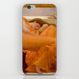 Flaming June Oil Painting by Frederic Lord Leighton iPhone Skin