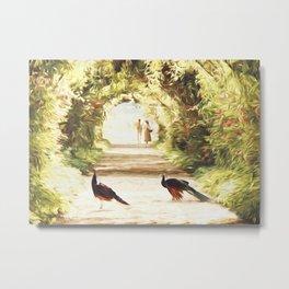 Lovers and Peacocks Metal Print