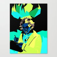 beethoven Canvas Prints featuring Beethoven by James Dez