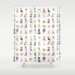 30 Dogs Shower Curtain
