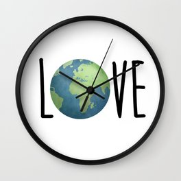 Love The Earth Wall Clock