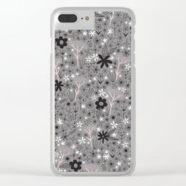 teeny floral print Clear iPhone Case