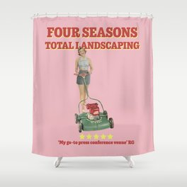 Four Seasons Total Landscaping (Pink) Shower Curtain