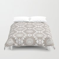 southwest Duvet Covers featuring Southwest - tenderness by Mia Valdez