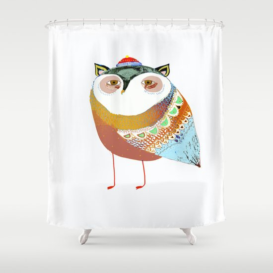 The Sweet Owl Shower Curtain