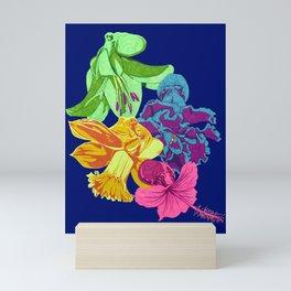 Octopus Flower Garden Mini Art Print