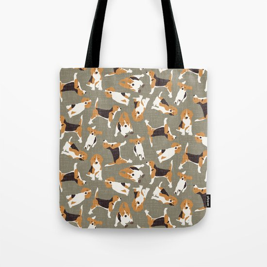 beagle scatter stone Tote Bag
