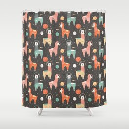 Astronaut Llamas in Space Shower Curtain