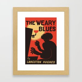Retro The Weary Blues (music) Framed Art Print
