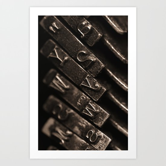typewriter keys Art Print