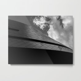 Nascar Hall of Fame Abstract Roof Black and White Metal Print