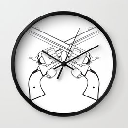 Crossed Colts Wall Clock