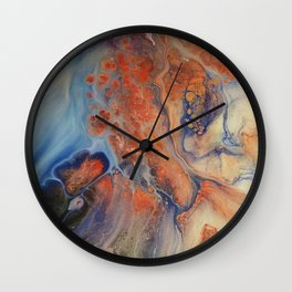 Abstract Overview Effect Wall Clock