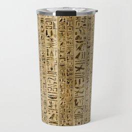 Egyptian hieroglyphs on papyrus Travel Mug