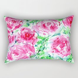 Blooming bouquet #7 || watercolor Rectangular Pillow