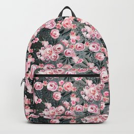 Night Rose Garden Pattern Backpack
