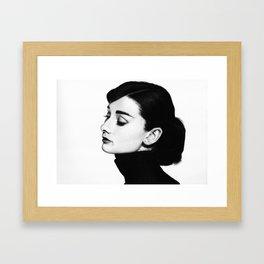 Audrey Hepburn Portrait Framed Art Print