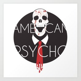 American Psycho-White Background Art Print