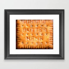 Butterkeks Cookie Framed Art Print