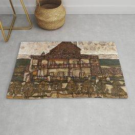 """Egon Schiele """"House with Shingle Roof (Old House II)"""" Rug"""