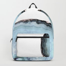 icy blue agate Backpack