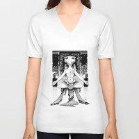 meditation V-neck T-shirts featuring Meditation. by Dmitry Ilyutkin
