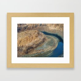 Lake Powell aerial shot Framed Art Print