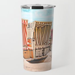 Baltrum Beach Huts, Germany Travel Mug