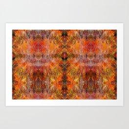 Abstract acrylic sunburst v1 Art Print