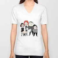 tim burton V-neck T-shirts featuring Tim Burton Family Guy by Grace Isabel