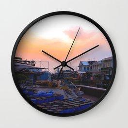 Sunset in Tai O  Wall Clock