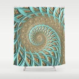 Golden Floss - Fractal Art  Shower Curtain