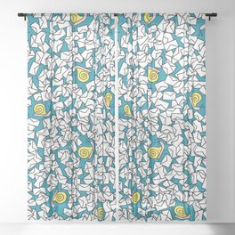 Snail Mail Turquoise Sheer Curtain