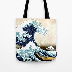 Kanagawa Oiled Tote Bag