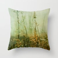 meditation Throw Pillows featuring Meditation by Olivia Joy StClaire
