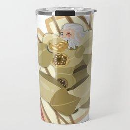 Donuts - Glazed Bear Claw with Raspberry Filling Travel Mug