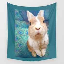 Blue Bunny Wall Tapestry