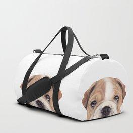 Bulldog Original painting Dog illustration original painting print Duffle Bag