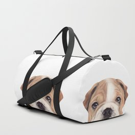 Bulldog Original painting Dog illustration original painting print Duffle Bag