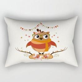 Chouette automnale Rectangular Pillow