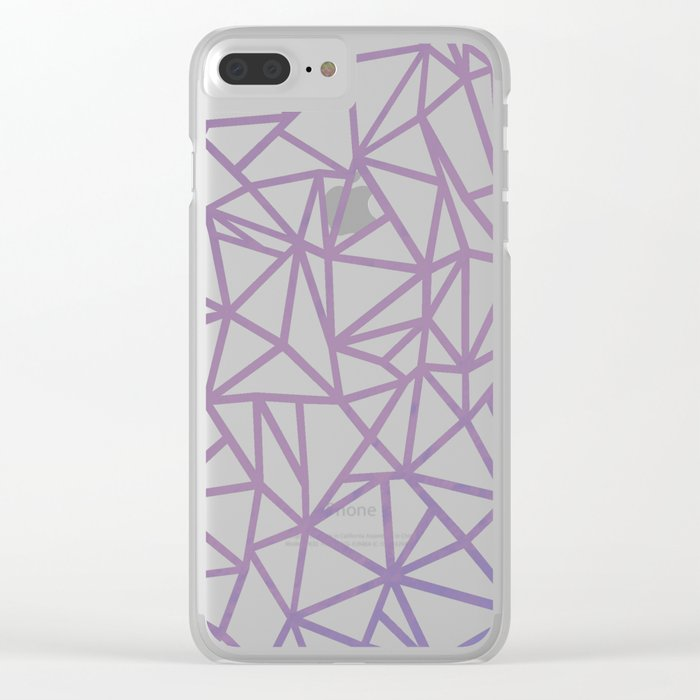 Ab Marb Magenta Clear iPhone Case