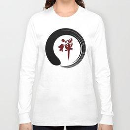 Zen Namaste Circle Meditation Prayer Ohm Aum Om Oum Peace Tai Chi Taiji Long Sleeve T-shirt