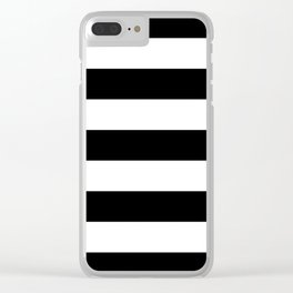 BLACK & WHITE STRIPES XL Clear iPhone Case