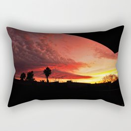 Sunset On Fire Rectangular Pillow