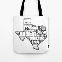 texas Tote Bags featuring Texas! by Artsy B