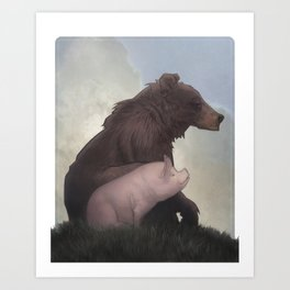 Bear and Pig Art Print